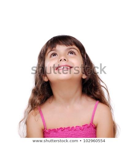 изолированный девочку портрет копия пространства Сток-фото © silent47