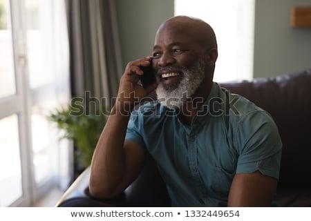 happy phone conversation stock photo © photosebia