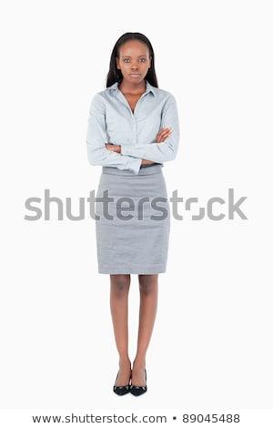 портрет серьезный служащий позируют белый Сток-фото © wavebreak_media
