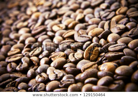 With roasted coffee beans and nothing else. Stock photo © justinb