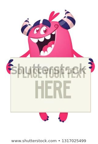 Monster witte teken zombie Stockfoto © Lightsource