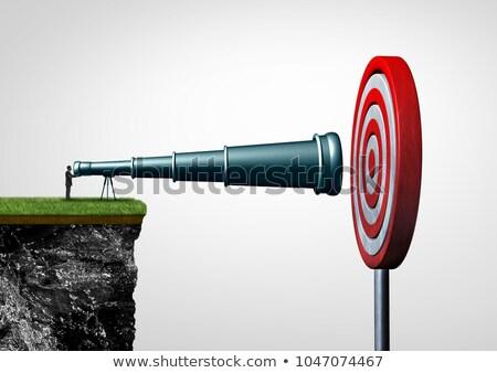 obiettivo · aspirazione · persona · telescopio · target - foto d'archivio © lightsource