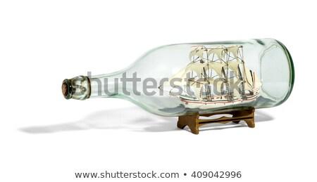 hajó · üveg · bent · tengerpart · kép · tenger - stock fotó © yul30