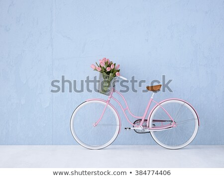 abstract · vintage · fiets · poster · kaart · berg - stockfoto © krabata