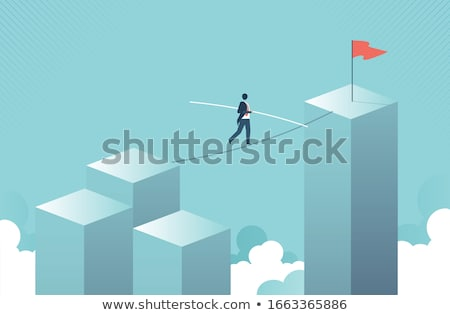 risk symbol on a tightrope stock photo © lightsource