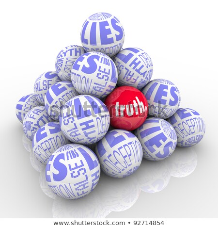 finding truth among lies stock photo © 3mc
