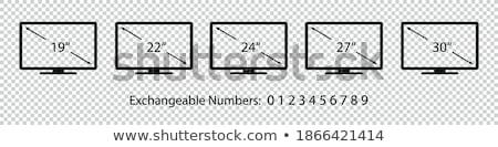 изолированный 20 ЖК экране черный белый Сток-фото © eldadcarin