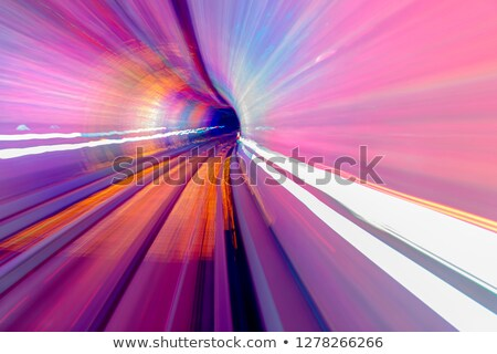 Rosa azul rail resumen subterráneo ferrocarril Foto stock © billperry