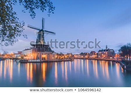 fırıldak · Hollanda · seyahat · değirmen · açık · bir - stok fotoğraf © neirfy