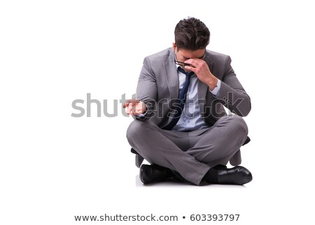 Desperate businessman praying Stock photo © smithore
