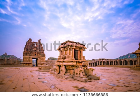 Stone Chariot in Vittala Temple, Hampi, India Stock photo © jet