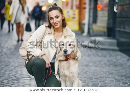 Senhora cão foto lata cartão ilustração Foto stock © grechka333