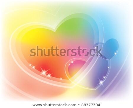 abstract motley rainbow background with shining lines and stars stock photo © marinini