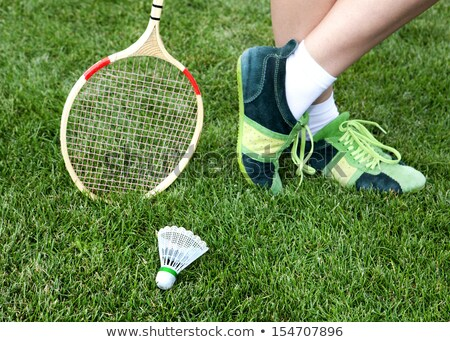foot of woman who plays badminton Stock photo © ssuaphoto