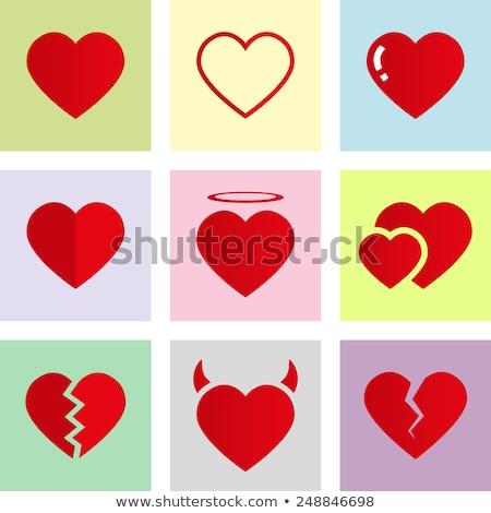 broken heart love theme illustration Stock photo © Melvin07