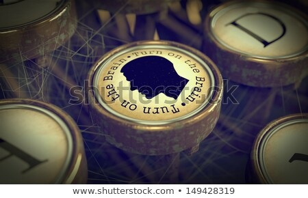 Turn On Your Brain -  Typewriter Key. Stock photo © tashatuvango