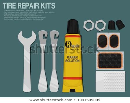 bicycle flat tire repair kit stock photo © foka