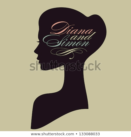 Vector portrait of beautiful woman profile stock photo © jet