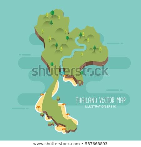 królestwo · Tajlandia · asia · mapy · dodatkowo - zdjęcia stock © volina