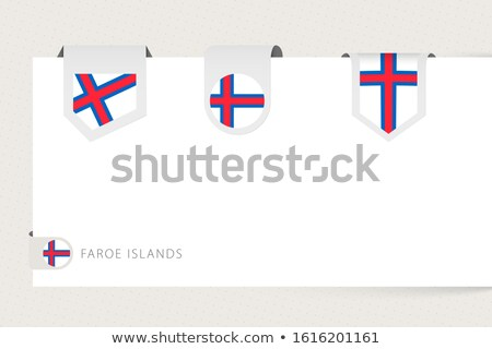 Ribbon banner - faroese flag Stock photo © StockwerkDK