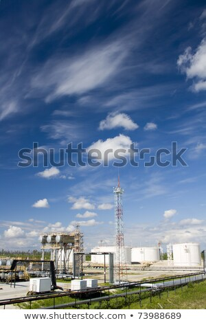 Petrochemical plant at sand desert Stock photo © shirophoto