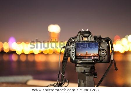 węgiel · elektrownia · noc · Błękitne · niebo · niebo · pracy - zdjęcia stock © redpixel