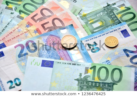 Stock photo: euro banknotes and coins