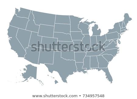 Alasca mapa Estados Unidos américa república preto Foto stock © tony4urban