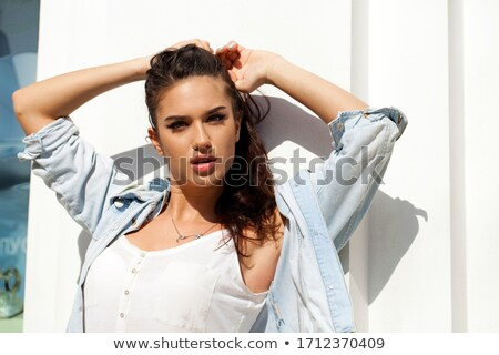 Woman posing with bare breasts Stock photo © stryjek