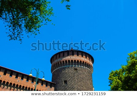 kasteel · milaan · fontein · Italië · architectuur · splash - stockfoto © alessandro0770