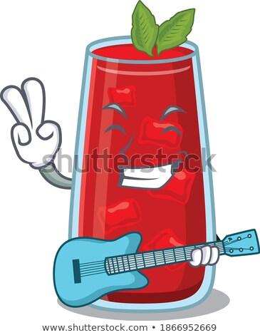 Véres gitár grunge Stock fotó © sgursozlu