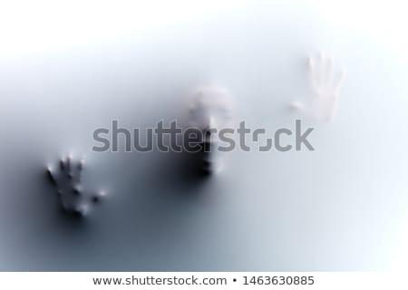 furcsa · kéz · mutat · ujj · felirat · sötét - stock fotó © stocksnapper