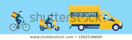 Courier man driving cargo car delivering package Stock photo © CandyboxPhoto