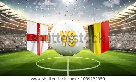サッカーボール · ベルギー · フラグ · ピッチ · サッカー · 世界 - ストックフォト © stevanovicigor