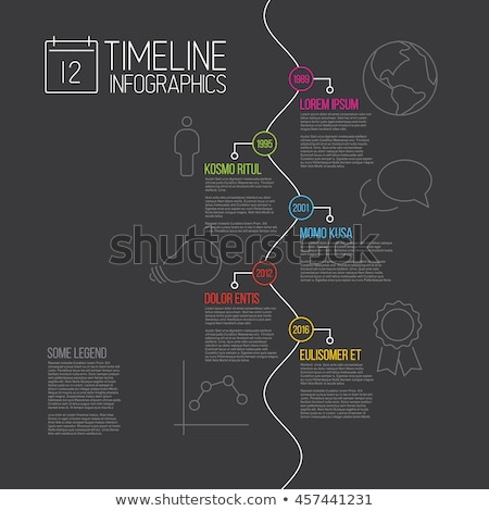 colorful dark infographic timeline report template stock photo © orson