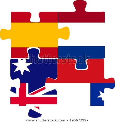 spain netherlands australia chile flags in puzzle stock photo © istanbul2009