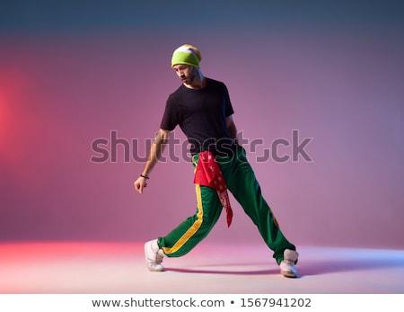 hip-hop · adam · kırmızı · moda · portre · erkek - stok fotoğraf © spectral
