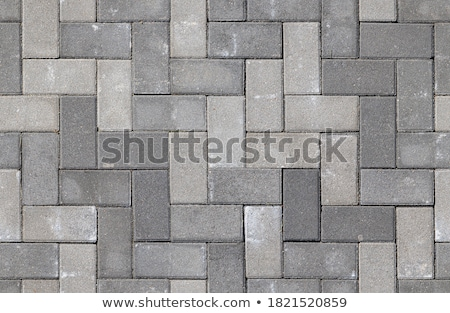 grey brick pavers seamless texture stock photo © tashatuvango