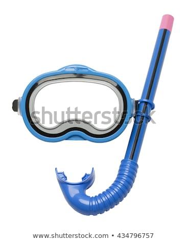 ダイビング マスク クローズアップ 青 黄色 黒 ストックフォト © nito