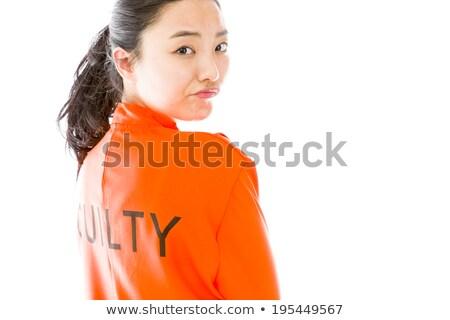 vrouw · gevangene · jonge · vrouw · stoel · lege · kamer · vrouwen - stockfoto © bmonteny