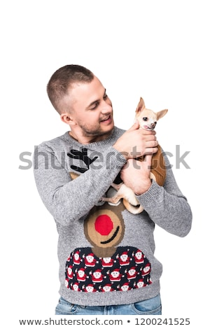 man and chihuahua stock photo © cynoclub