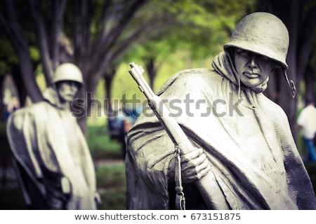 soldados · ilustração · pôr · do · sol · céu · homens · silhueta - foto stock © adrenalina