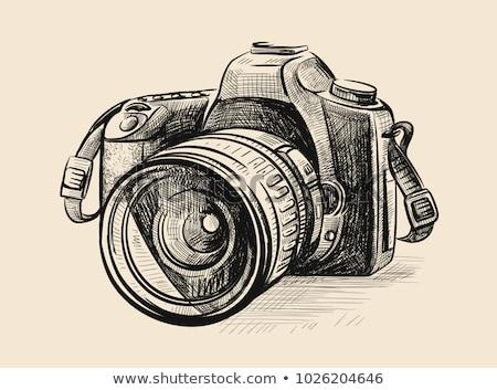 Boceto enfocar pluma lápiz vintage estilo Foto stock © kali