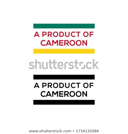 Камерун красный штампа изолированный Сток-фото © tashatuvango