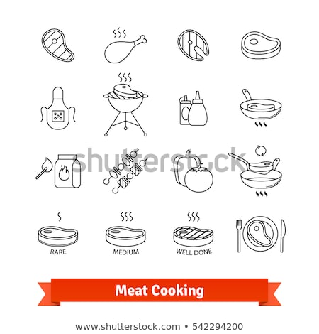 charcoal broiled steaks sign stock photo © chrisbradshaw