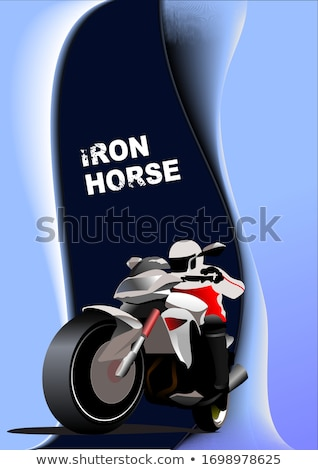 Soyut motosiklet görüntü demir at vektör Stok fotoğraf © leonido