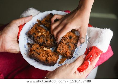 Prugna torta alimentare estate blu Natale Foto d'archivio © yelenayemchuk
