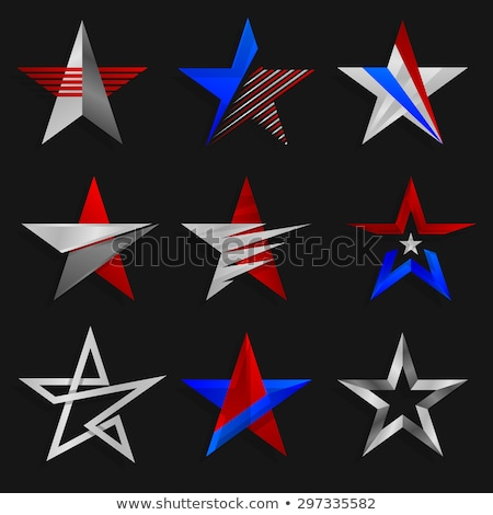 Five-points stars. Elements for design. Vector logo template set.  stock photo © ussr