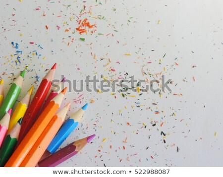 Különböző szín ceruzák sötét stock fotó Stock fotó © nalinratphi