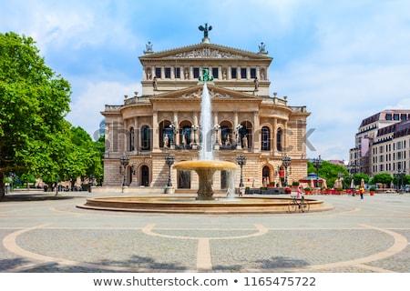 старые · опера · дома · Франкфурт · основной - Сток-фото © meinzahn